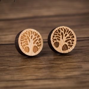 Urban Outfitters Vintage Tree Hugger Wood Earrings